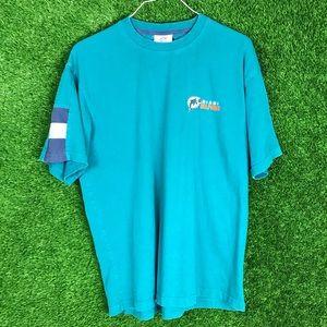 NFL Miami Dolphins Retro Logo Embroider Tee Shirt